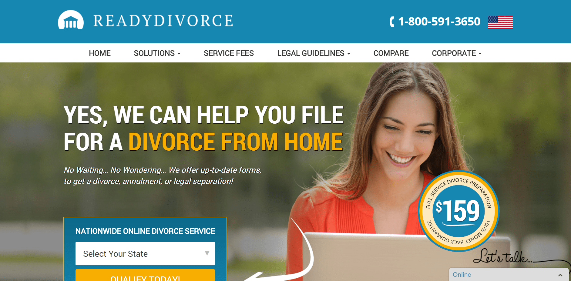ReadyDivorce.com online divorce service